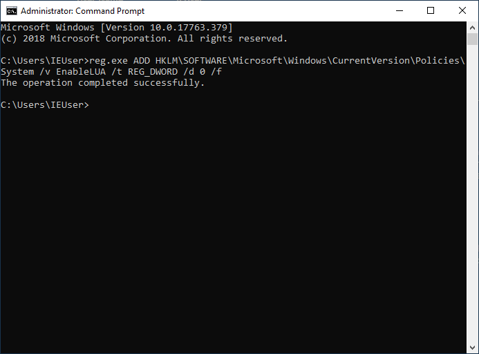 Mematikan User Account Control dengan Command Prompt